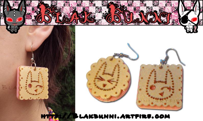 Fudgy Cookie Earring by BlakBunni