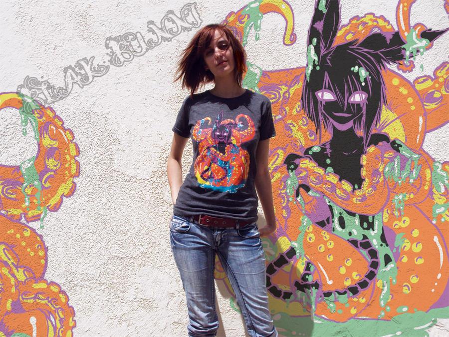 Icky Tentical T-shirt 1 by BlakBunni