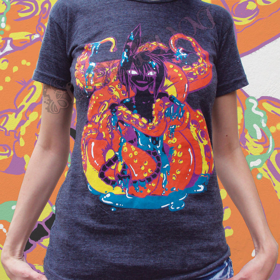 Icky Tentical T-shirt 2 by BlakBunni