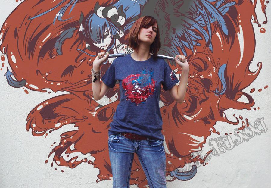Lillium Bloodstorm Tshirt 1 by BlakBunni
