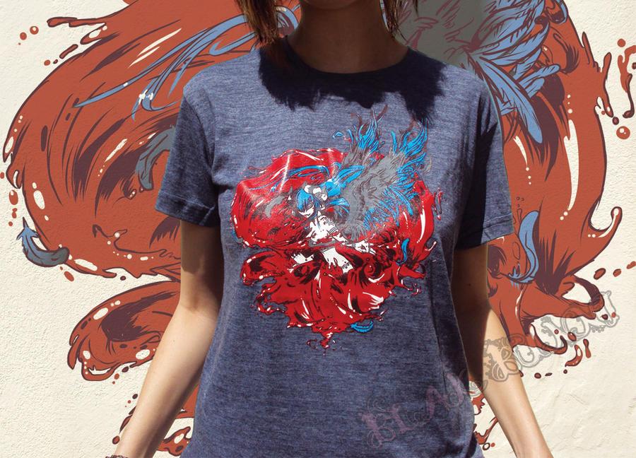 Lillium Bloodstorm Tshirt 2 by BlakBunni
