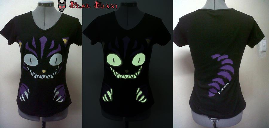 Cheshire Cat Glow-in-the-dark t-shirt by BlakBunni
