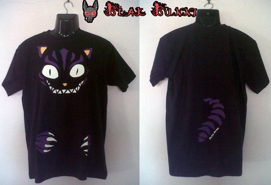 Cheshire Cat mens Glow-in-the-dark t-shirt by BlakBunni