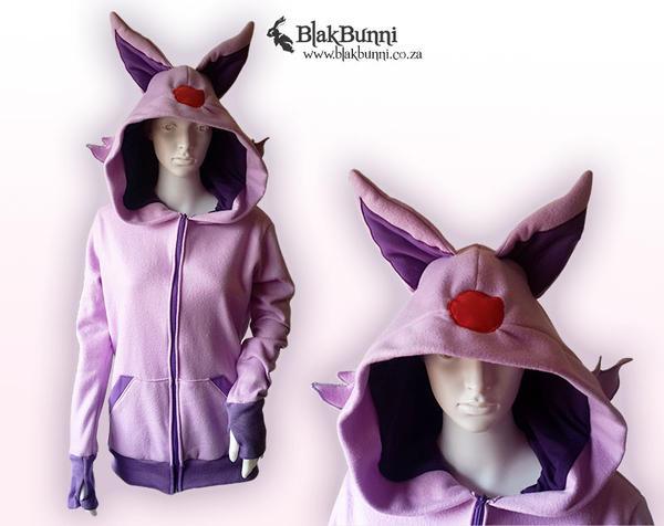 Espeon inspired hoodie by BlakBunni