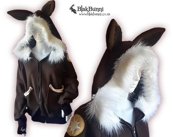 Eevee inspired hoodie by BlakBunni