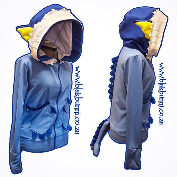 Vaporeon inspired hoodie by BlakBunni