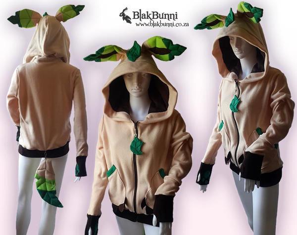 Leafeon hoodie by BlakBunni