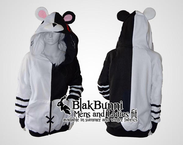 Monokuma Dangan Ronpa inspired cosplay hoodie by BlakBunni