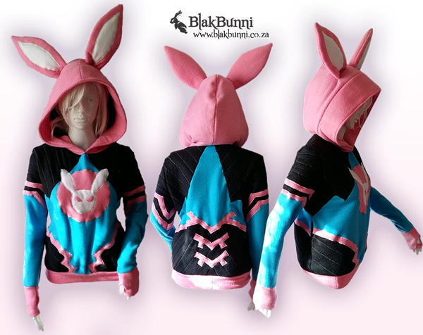 D.va overwatch inspired hoodie by BlakBunni