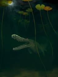 Bayou Alligator in Murky Water