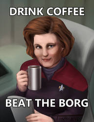 Drink coffee, beat the Borg