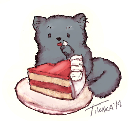 Cake kitty by Scethdra