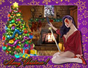 Christmas Psylocke (Purple Lips)