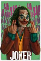 Joaquin Phoenix Joker by steveagoto