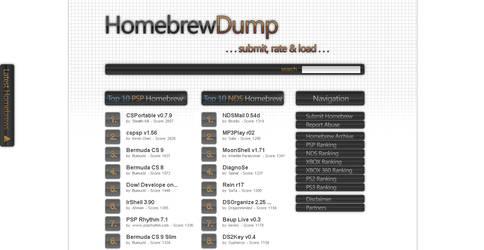Homebrew Dump Webdesign