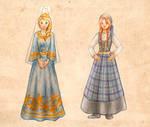 Anna and Elsa: Icelandic Costumes