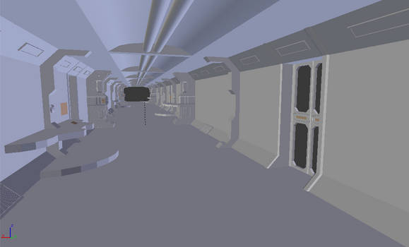 Spaceship Corridor WIP