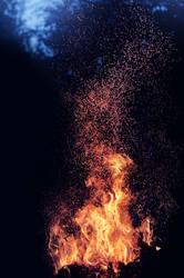 Midsummer bonfire by Thunderi