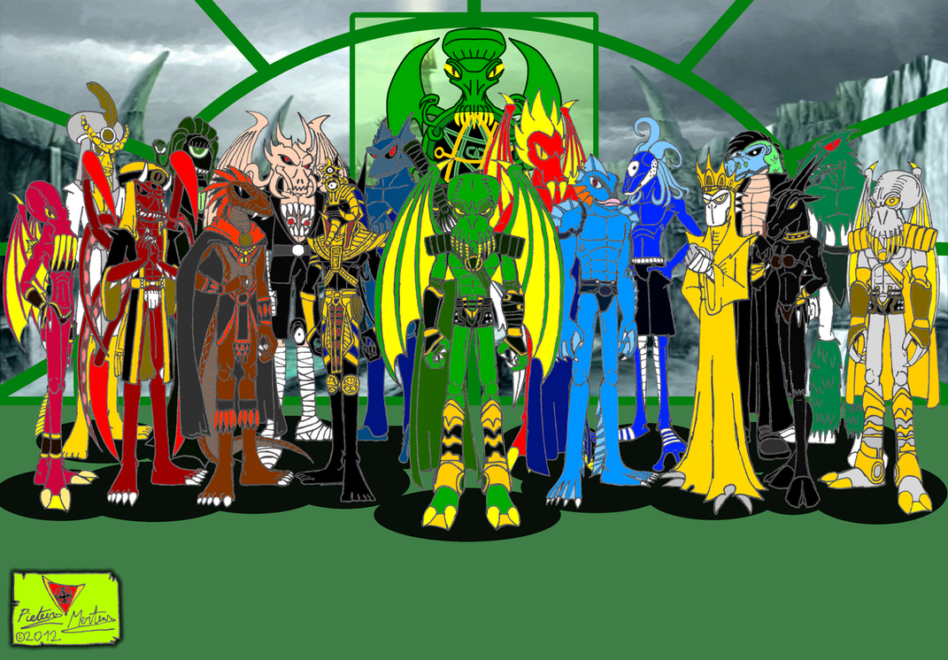 The Great Old Ones and Outer Gods of Mythos by DragonSnake9989