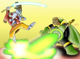 Krishna the Hare vs. Grandfather Clock