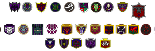 The Order of the Black Dragon banners