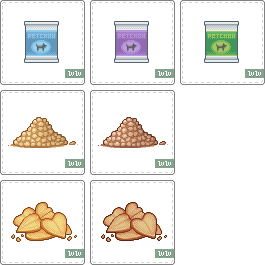 WhuddleWorld Pet Food Items by casey-lee