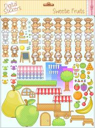 Digital Stickers: Sweetie Fruits