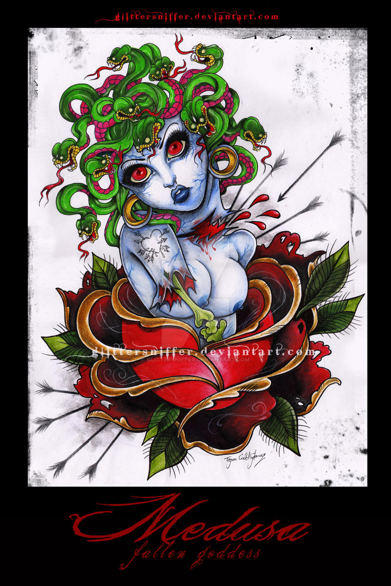 Medusa-fallen goddess by glittersniffer