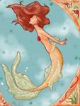 Mermaid Nouveau Colored