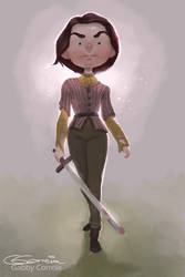 Arya Stark by NightshadeBerry