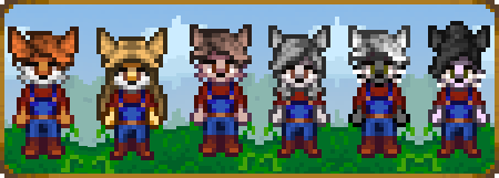 [MOD][Stardew Valley] Furry/Anthro Player (+Cats) by LackeDragon