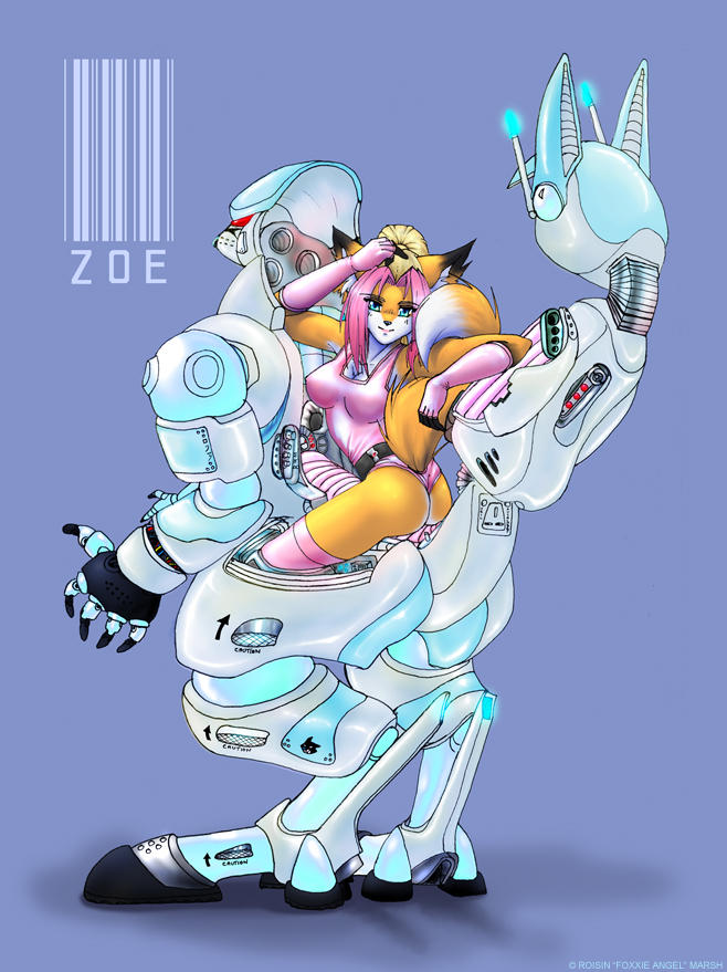 Zoe gets an armoured suit