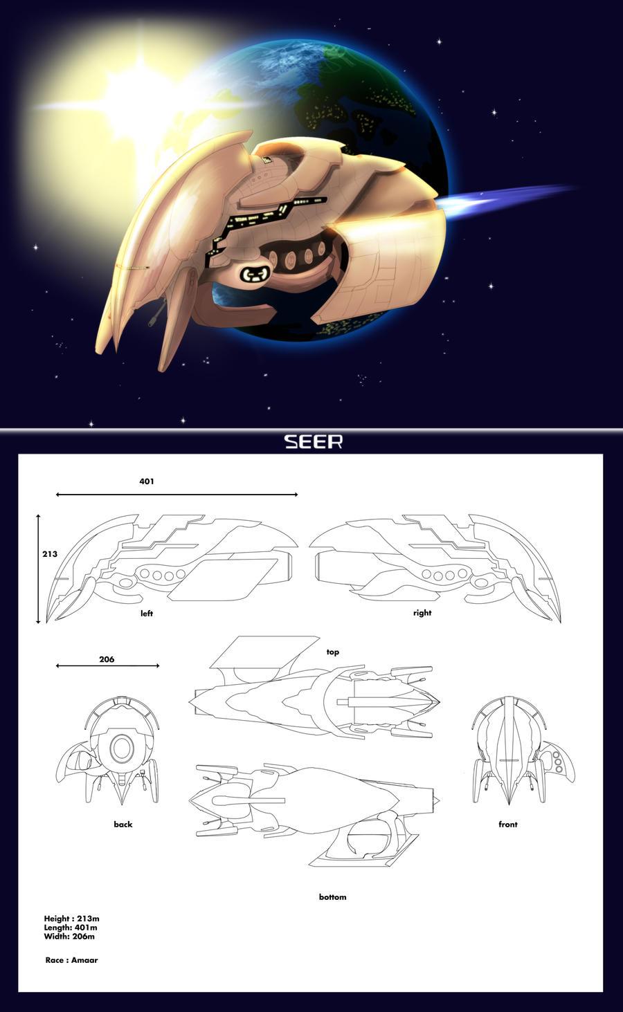 Amaar Ship : Seer by Foxxie-Angel