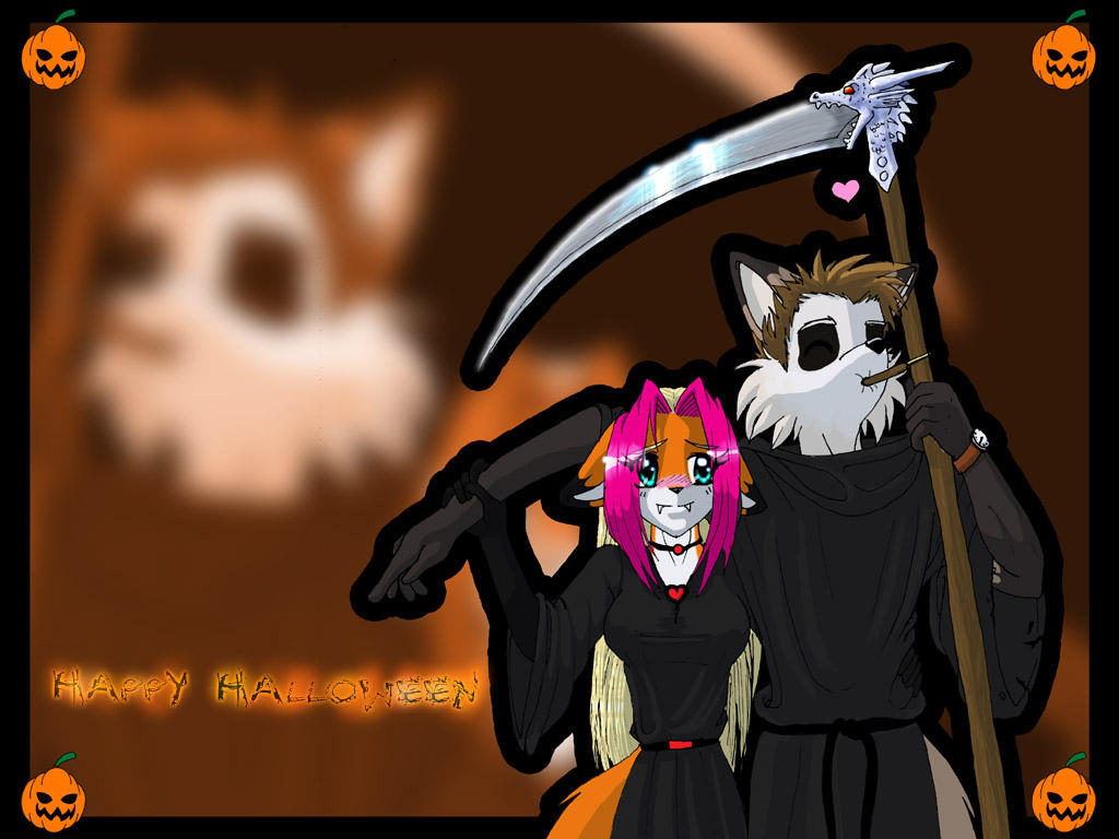 Halloween Wallpaper. by Foxxie-Angel