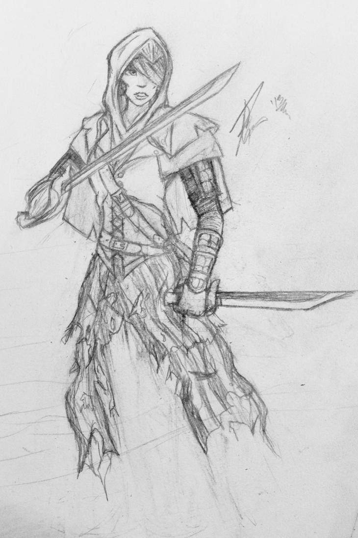 Female pirate drawing - photo#13