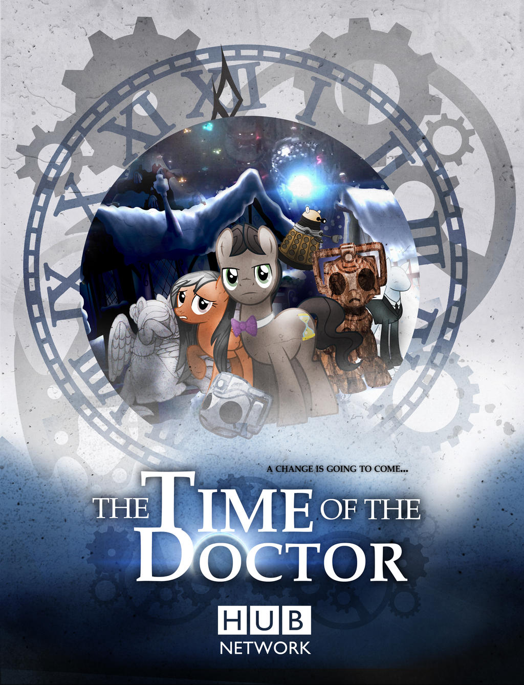 Time Of The Doctor (Whooves Xmas Poster) by sitrirokoia