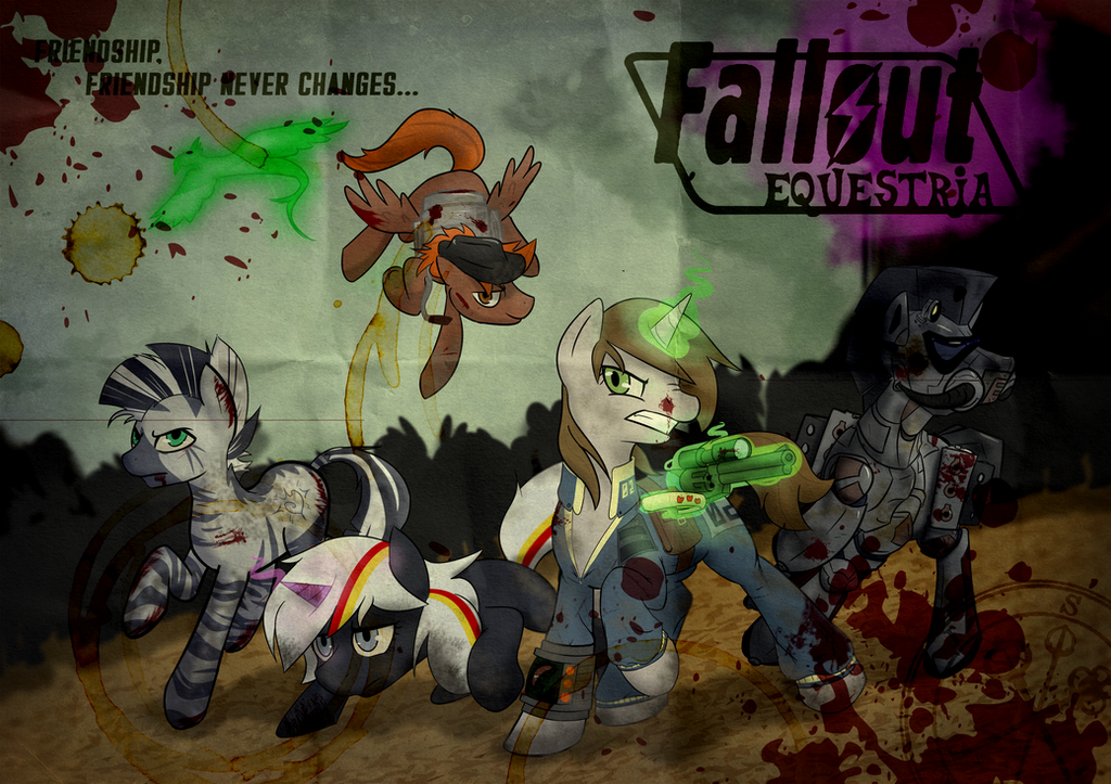 Fallout Equestria Poster (Worn Paper) By Sitrirokoia On