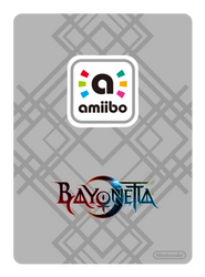 Bayonetta Amiibo Card Back