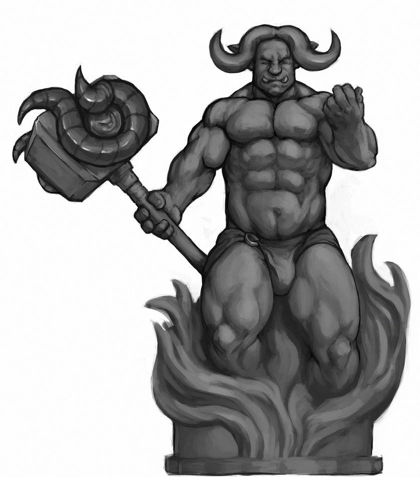 Orc deity by HolyMane
