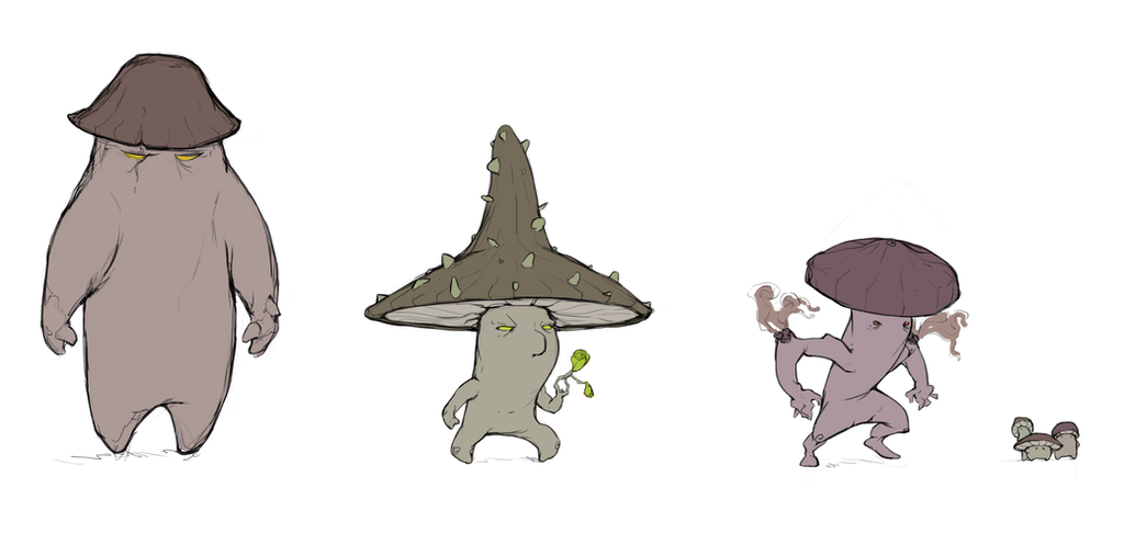 Mushroom creeps by HolyMane