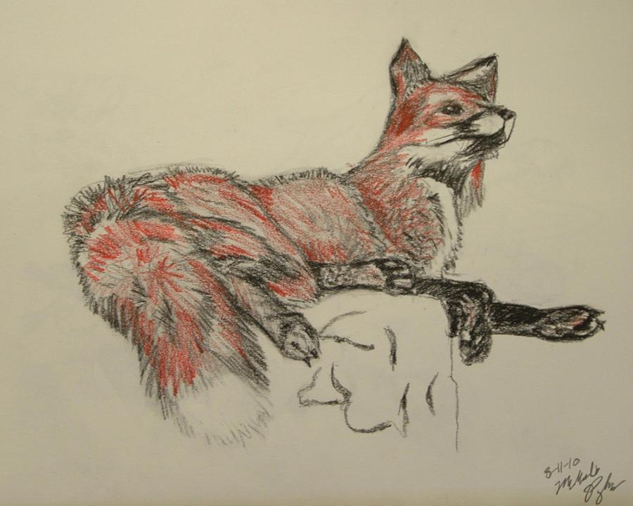 Fox Sketch by MelmelDraws