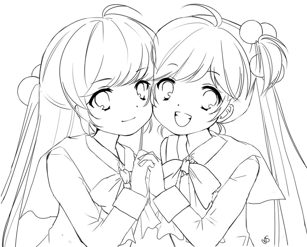 Little Busters line art by xaznminigrlx