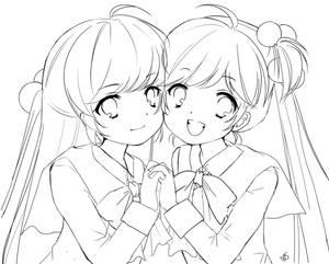 Little Busters line art