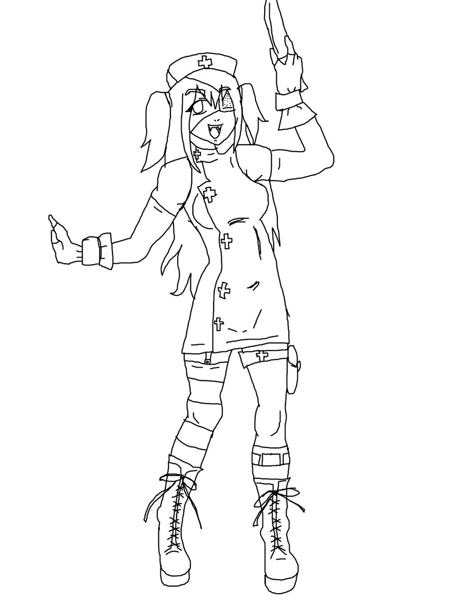 Line Drawing Nurse : Evil nurse lineart by creepygretel on deviantart