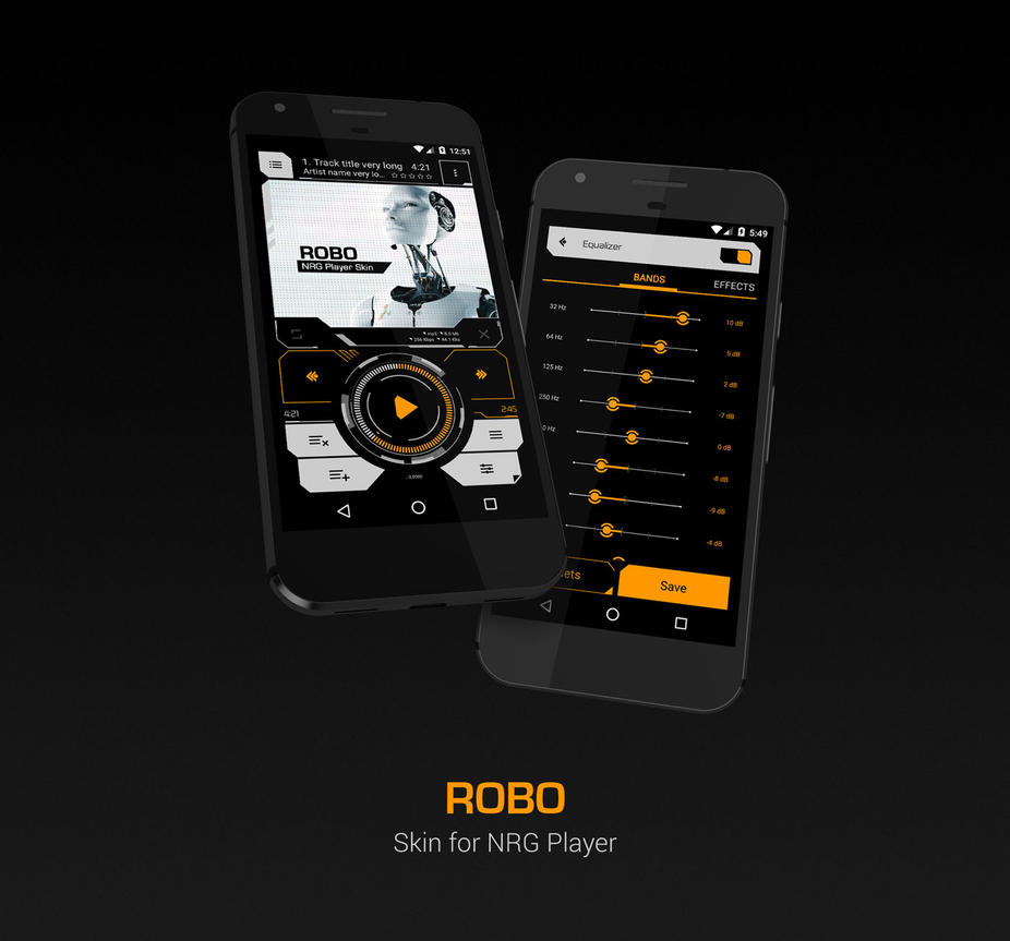 Robo Skin for NRG Player by slaveoffear