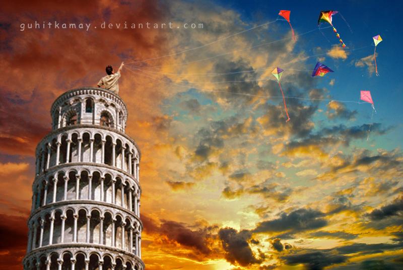 kites by guhitkamay