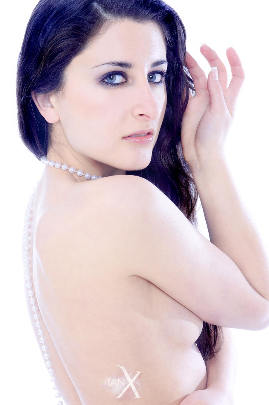 Milena in White no. 10 by IanStruckhoff