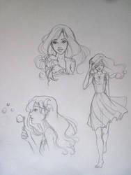 Lily Sketch - Jackie Santiago by IanStruckhoff