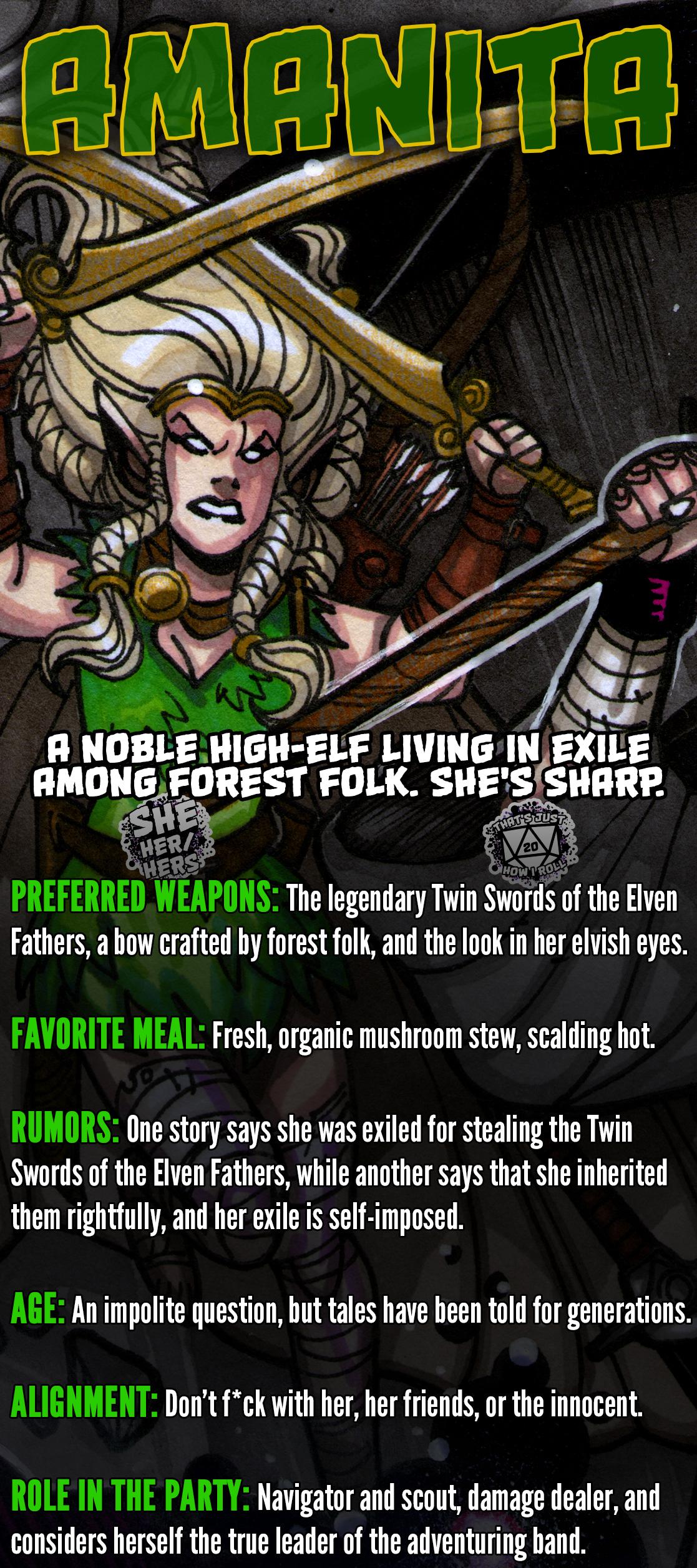 Amanita, high-elf ranger