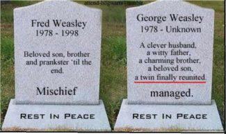 Weasley Twins Reunited- Mischief Managed